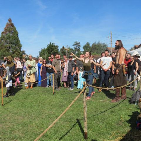 Lancer de haches - Troupe médiévale-fantastique