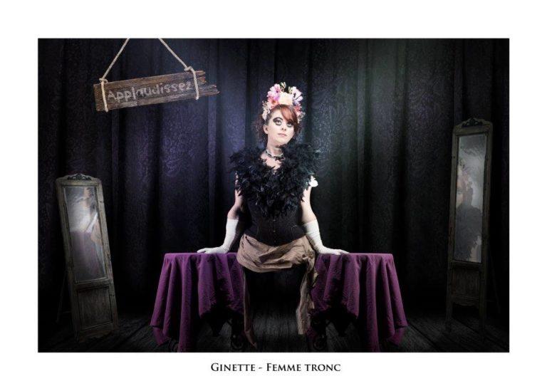 """Ginette - Troupe cirque freak show """"Le Fabuleux Cabariosité à Vapeur"""" de la compagnie Rêves Temporels"""