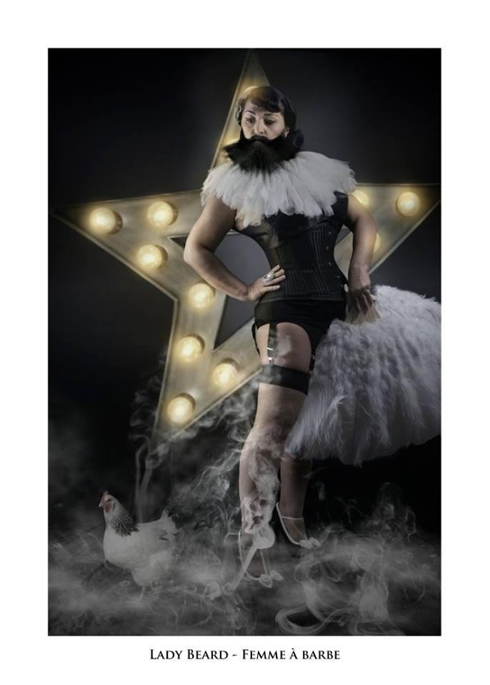 """Lady Beard - Troupe cirque freak show """"Le Fabuleux Cabariosité à Vapeur"""" de la compagnie Rêves Temporels"""