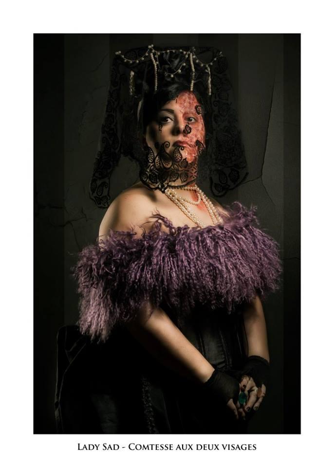 """Lady Sad - Troupe cirque freak show """"Le Fabuleux Cabariosité à Vapeur"""" de la compagnie Rêves Temporels"""
