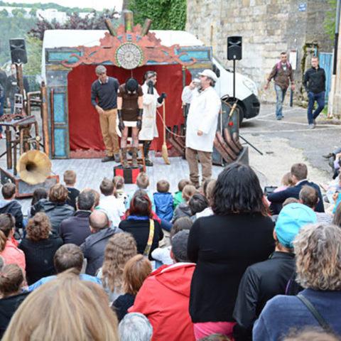 Spectacle steampunk Le Théâtre des Expériences Temporelles de Rêves Temporels au festival RenaissanceS